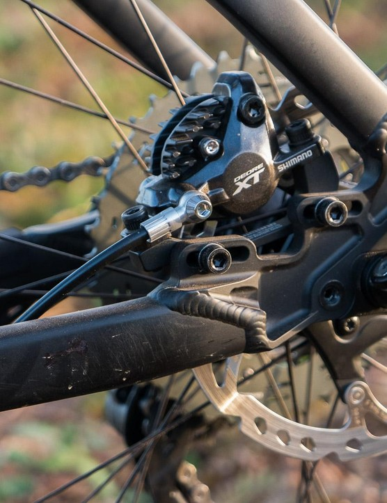 The sliding disc brake mount means you can switch to singlespeed dropouts