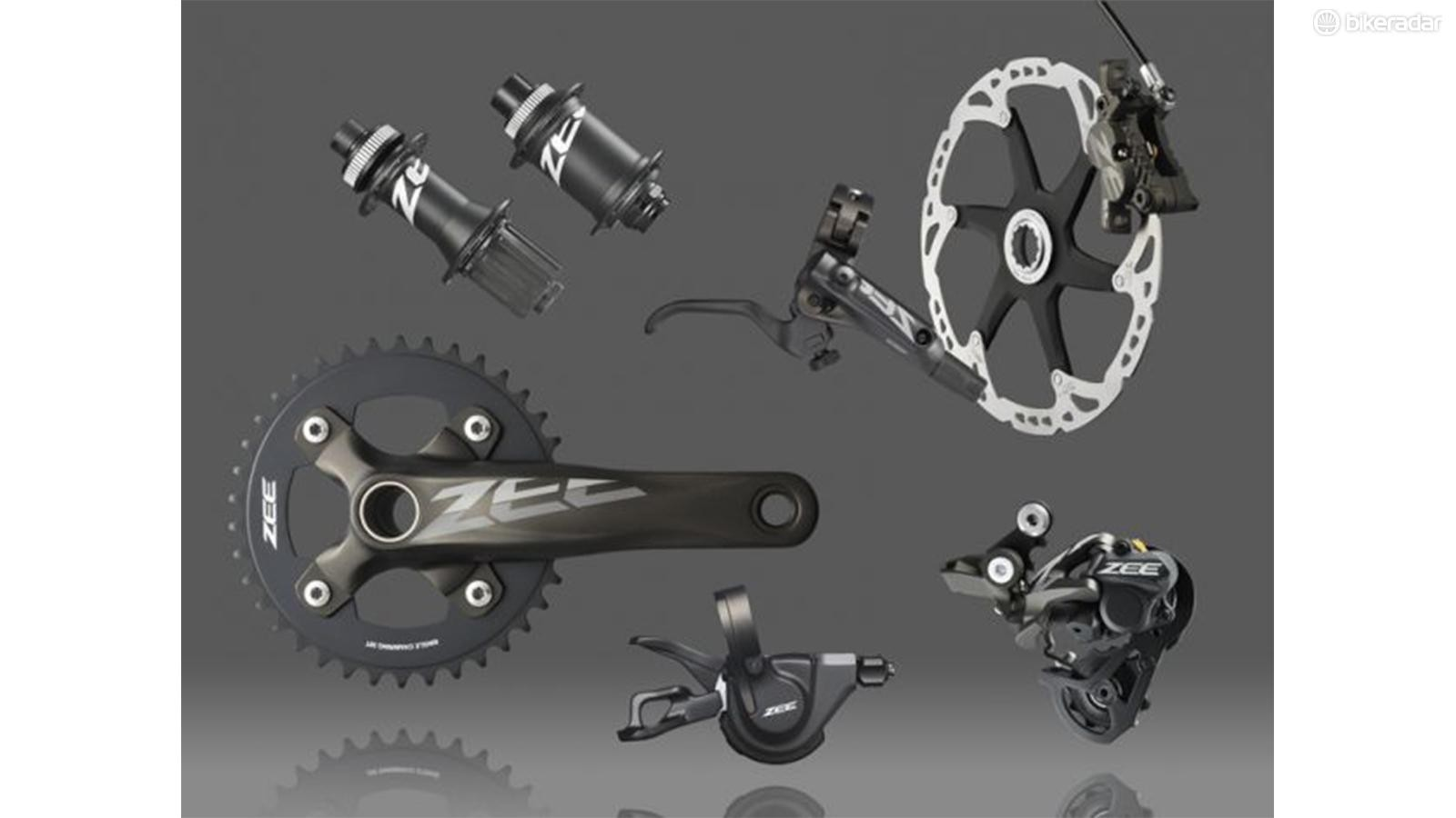 Zee is Shimano's entry-level group for downhill and freeride