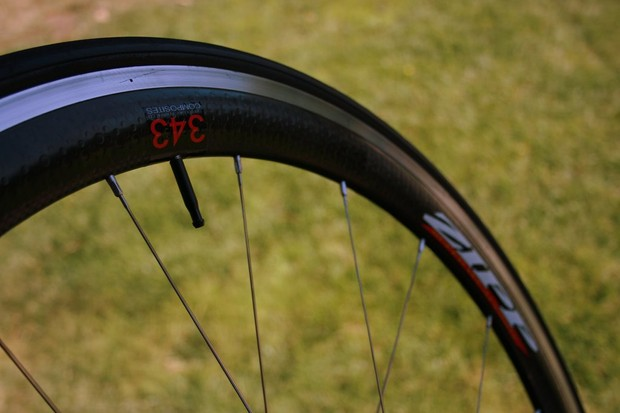 Zipp 343 clincher rim. It may be aluminium, but it's tough and it works.