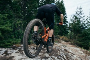 Rocky Mountain's EWS pro rider Jesse Melamed has been putting time on the updated Pipeline