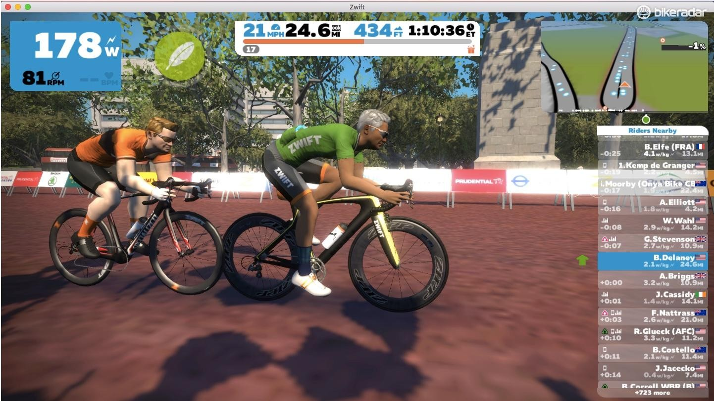 With a smart trainer, your pedal power drives apps such as Zwift, which can in turn control the resistance for hills, drafts and structured workouts