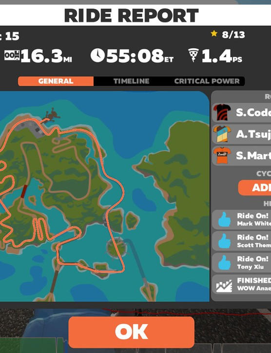 Access your ride data on Zwift