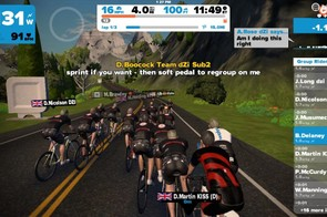 Group ride or race leaders often communicate in text messages