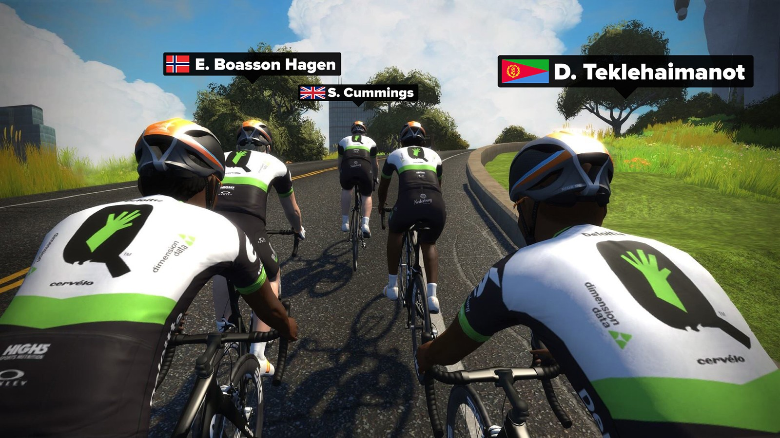 Team Dimension Data for Qhubeka online training camp