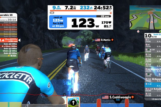 The Cycling Plus team gets to grips with Zwift's Training