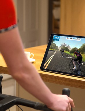 Zwift is compatible with iPads