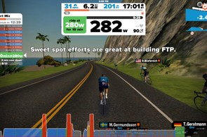 All the workouts are based on your FTP. Don't know your FTP? No problem, Zwift has an FTP test so you can find it