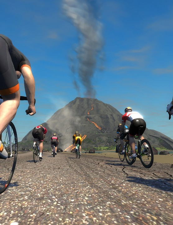 Cyclist's paradise — aka 'Watopia'