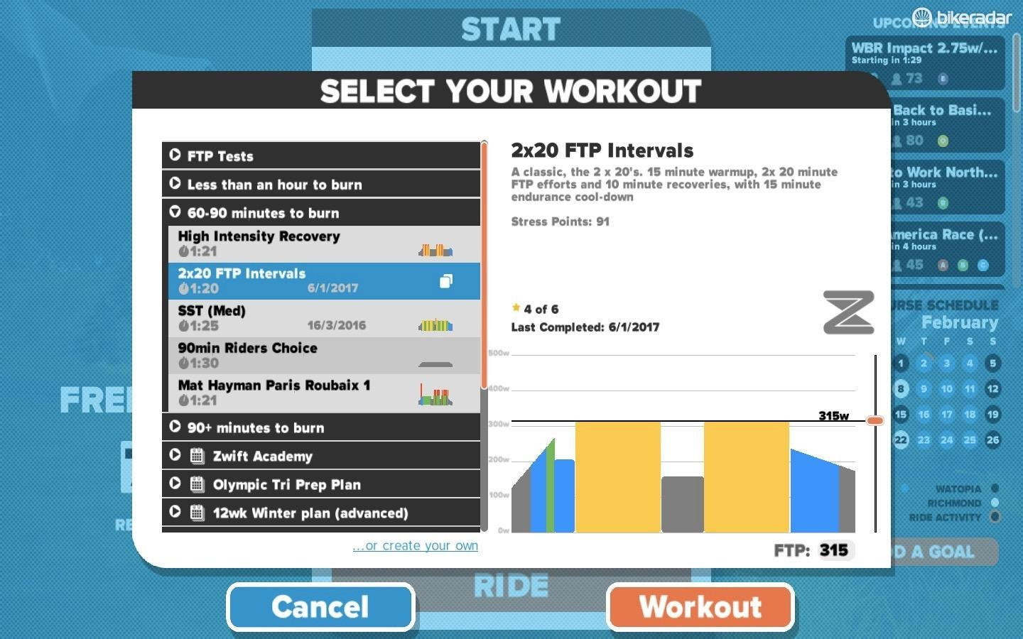 You can do workouts at random, or as part of a plan