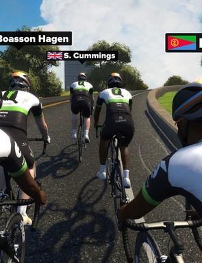 Team Dimension Data for Qhubeka online training camp