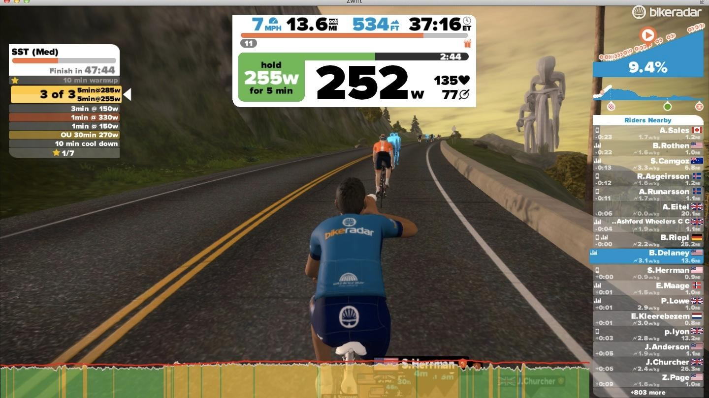 Zwift Workouts can be done a la carte whenever you want or you can follow one of the six plans with daily training regiments. You can also now import workouts from TrainingPeaks and Today's Plan