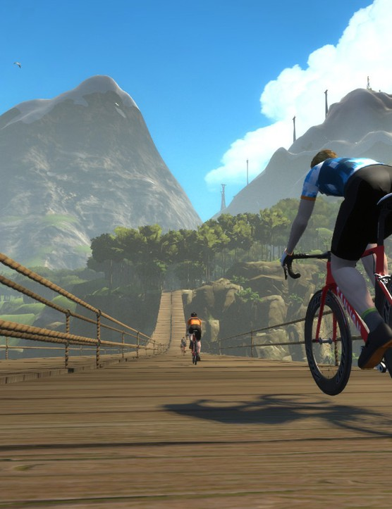 Zwift users or 'Zwifters' clocked up enough mileage to take them to Mars and back twice