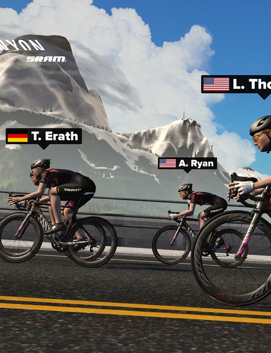 The women's academy is in partnership with the CANYON//SRAM team