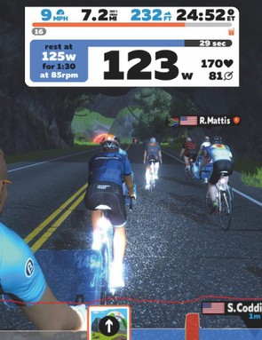 Adrian out on a Zwift group ride