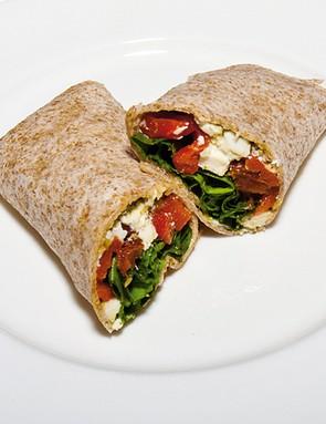 Mediterranean feta cheese wrap