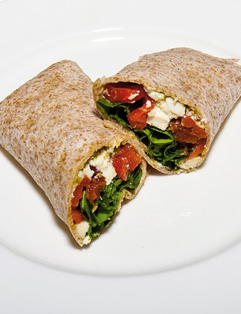 Mediterranean feta cheese wrap