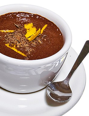 Chocolate and orange protein mousse