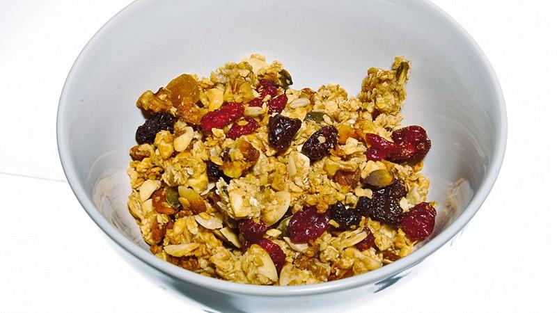 Vanilla spiced nut and seed granola