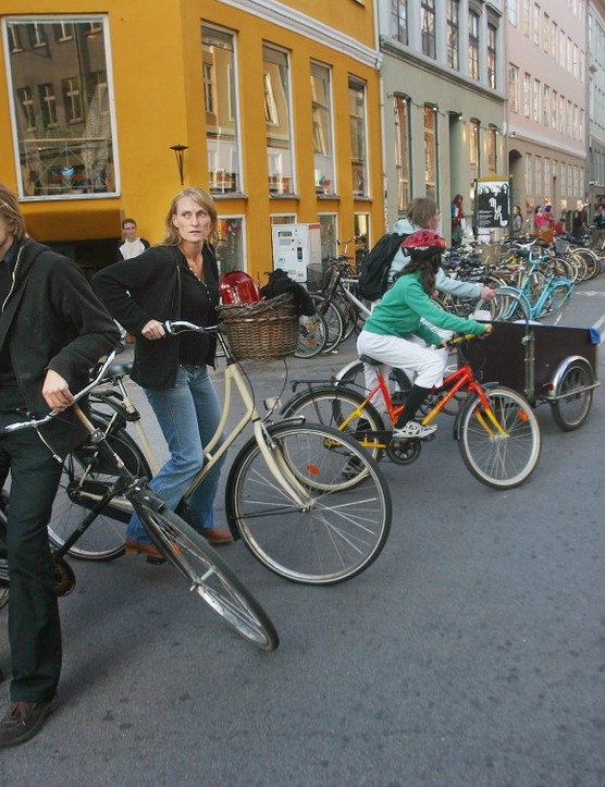 Many Copenhageners have a relaxed attitude to wearing helmets