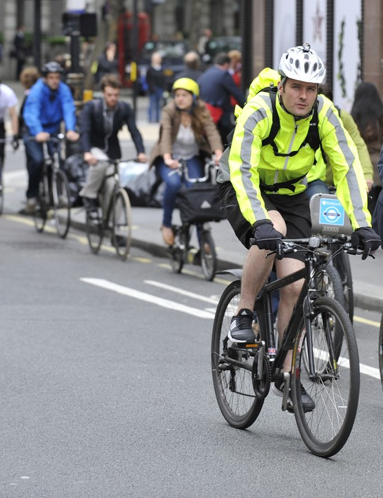 Cyclists in central London