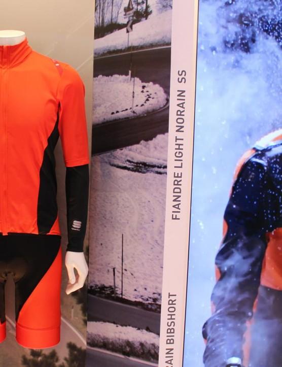 Sportful's No Rain line is similar to sister brand Castelli's NanoFlex rain-resistant clothing