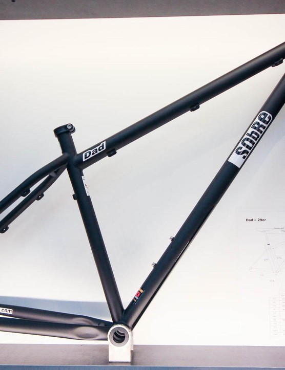 Sobre is a French brand that specialises in some nice looking steel hardtails. We're not sure how we'd feel about riding Dad though
