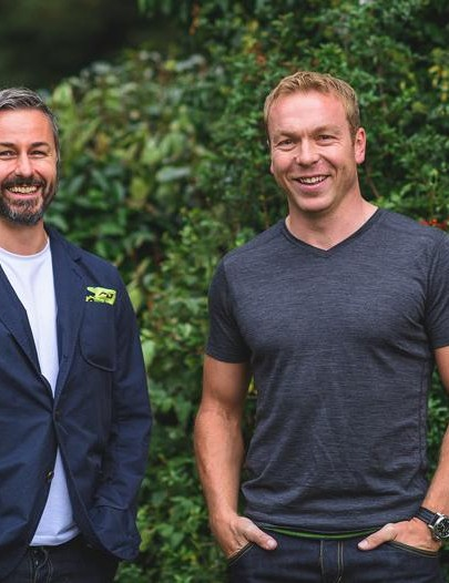 Nick Hussey, founder of Vulpine, and Sir Chris Hoy