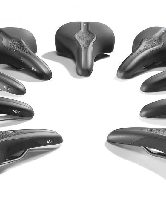 The full Selle Royal Scientia range of nine saddles