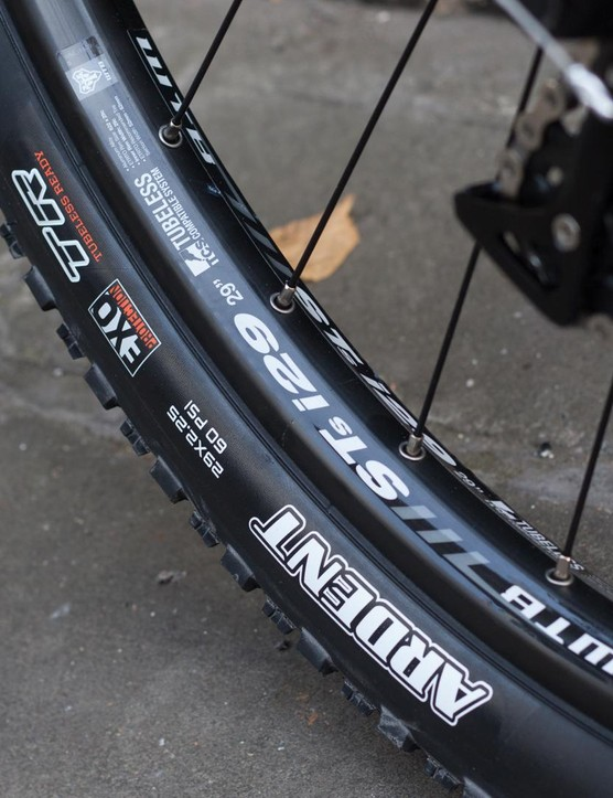 The WTB wheelset of the Process has an internal width of 29mm