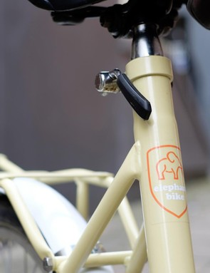 A quick-release clamp makes seatpost adjustments a doddle