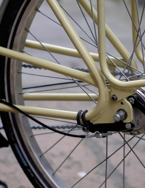 Drum brakes have plenty of power if you pull hard enough, and they're weatherproof too