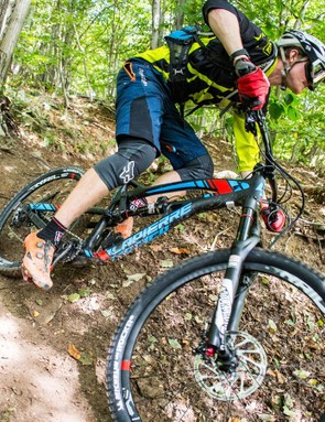 We got to ride the new Spicy on the same trails we'd raced the previous day as part of the Enduro World Series