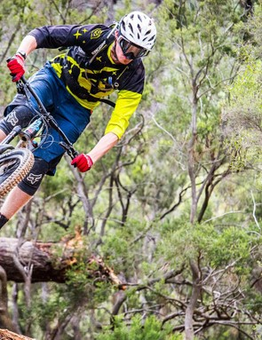 This is a true fit-for-purpose enduro bike. Enduro-specific eyewear sold seperately