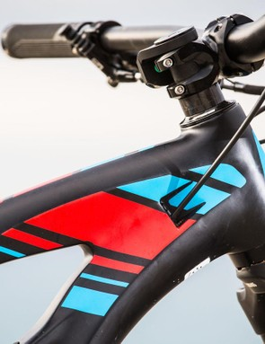 A 10mm spacer allows 170mm forks to be fitted without changing the geometry