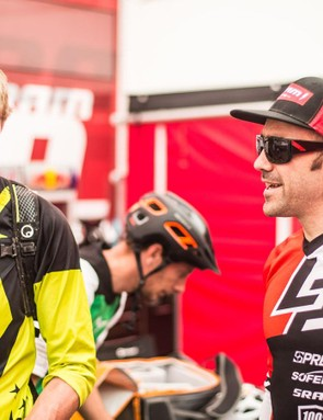 Nico Vouiloz was on hand to offer his technical wisdom. He wouldn't share his cheeky inside lines though