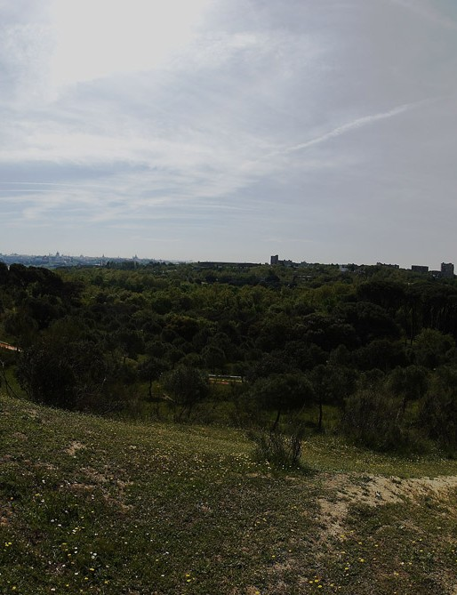 A panoramic, from the course to Madrid