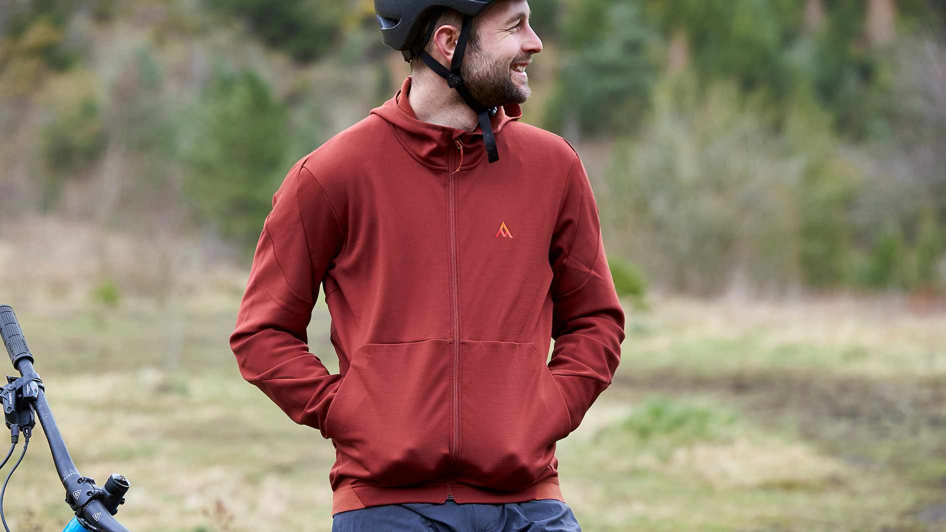 Alex Evans wearing 7Mesh riding clothing. Tirpentwys Pontypool, Wales. February 2019.