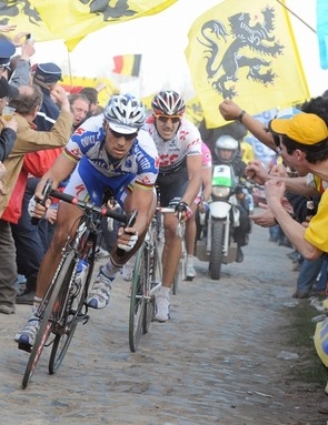 Tom Boonen powered along the pave
