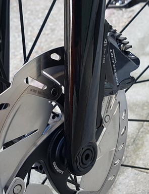 Shimano's Ultegra brakes are dependable stoppers, and come here with the finned pads
