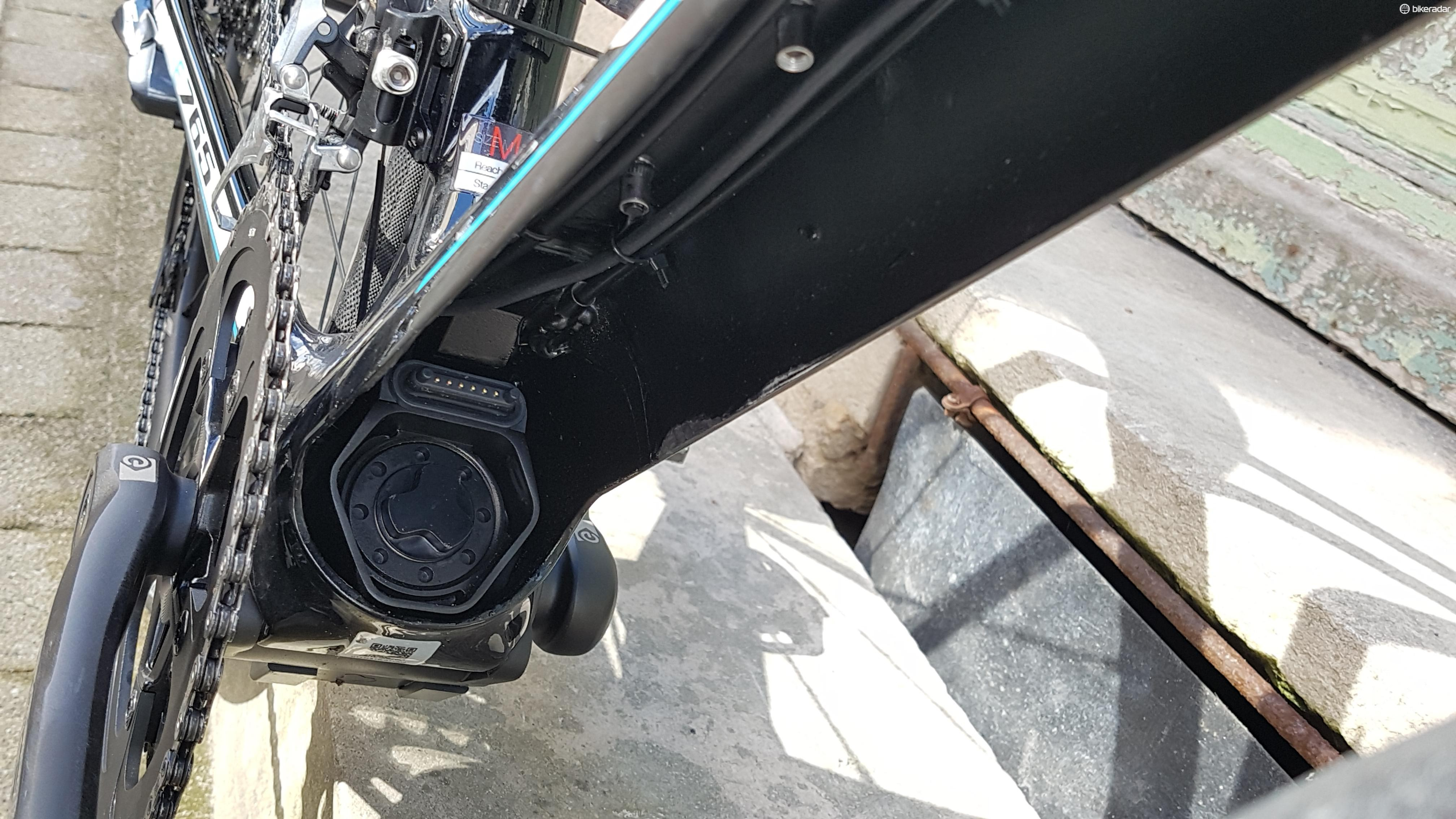 The BB from Fazua weighs around a kilo, and is bolted in to the frame
