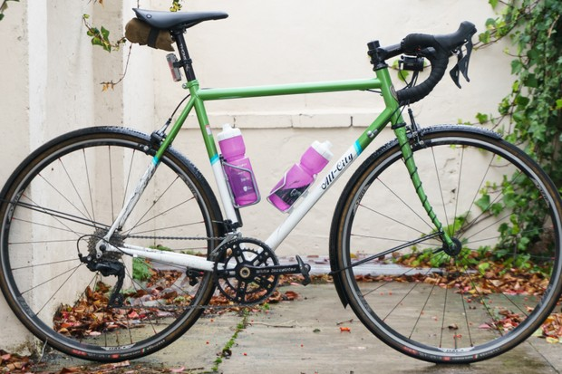 Bikes, such as Jack's All-City Mr Pink, form part of our long term test bike fleet