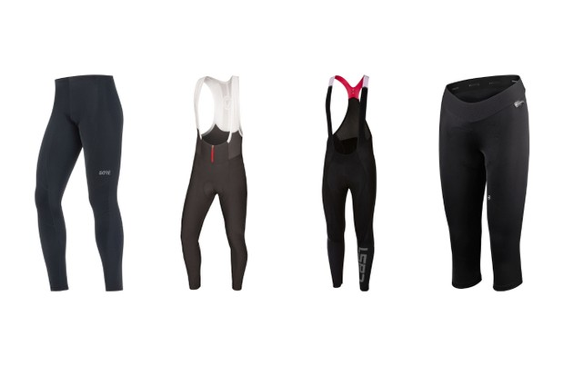 Cycling leggings and bib tights