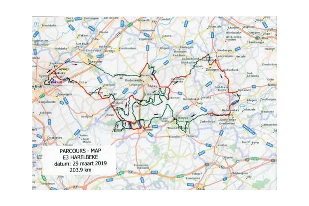 E3 Binckbank Classic route map
