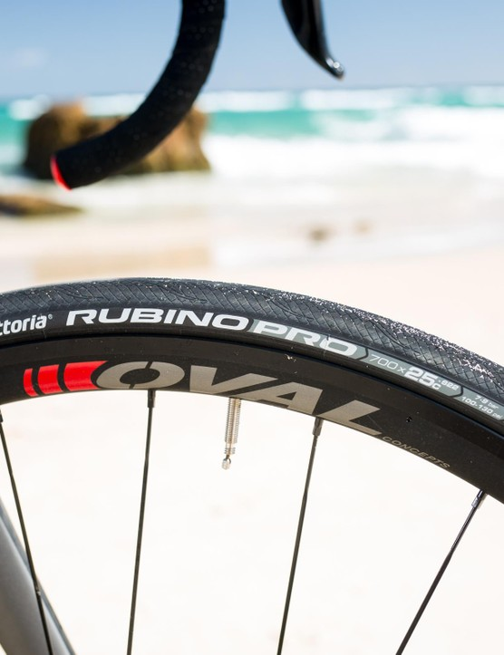Vittoria Rubino Pro tires on Oval Concepts 527 Disc wheels