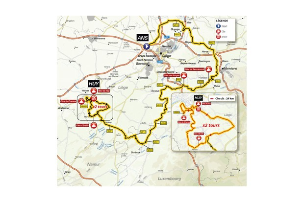 La Flèche Wallonne route map