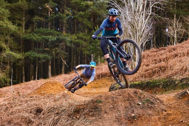 Full-suspension bikes on test