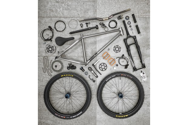 After the initial frame construction, MBUK compile the ultimate build kit for their Great British hardtail