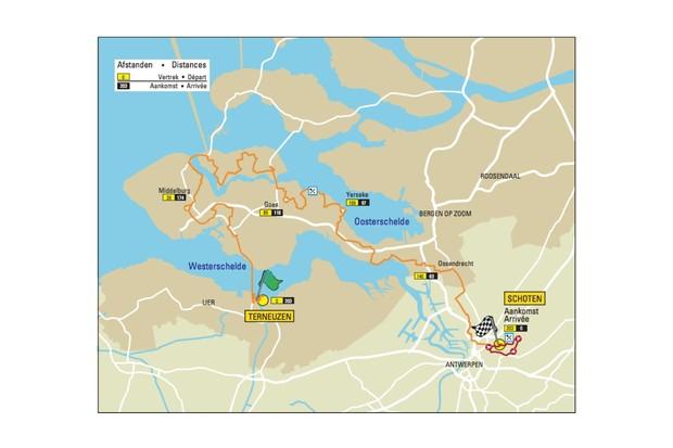 Scheldeprijs route map
