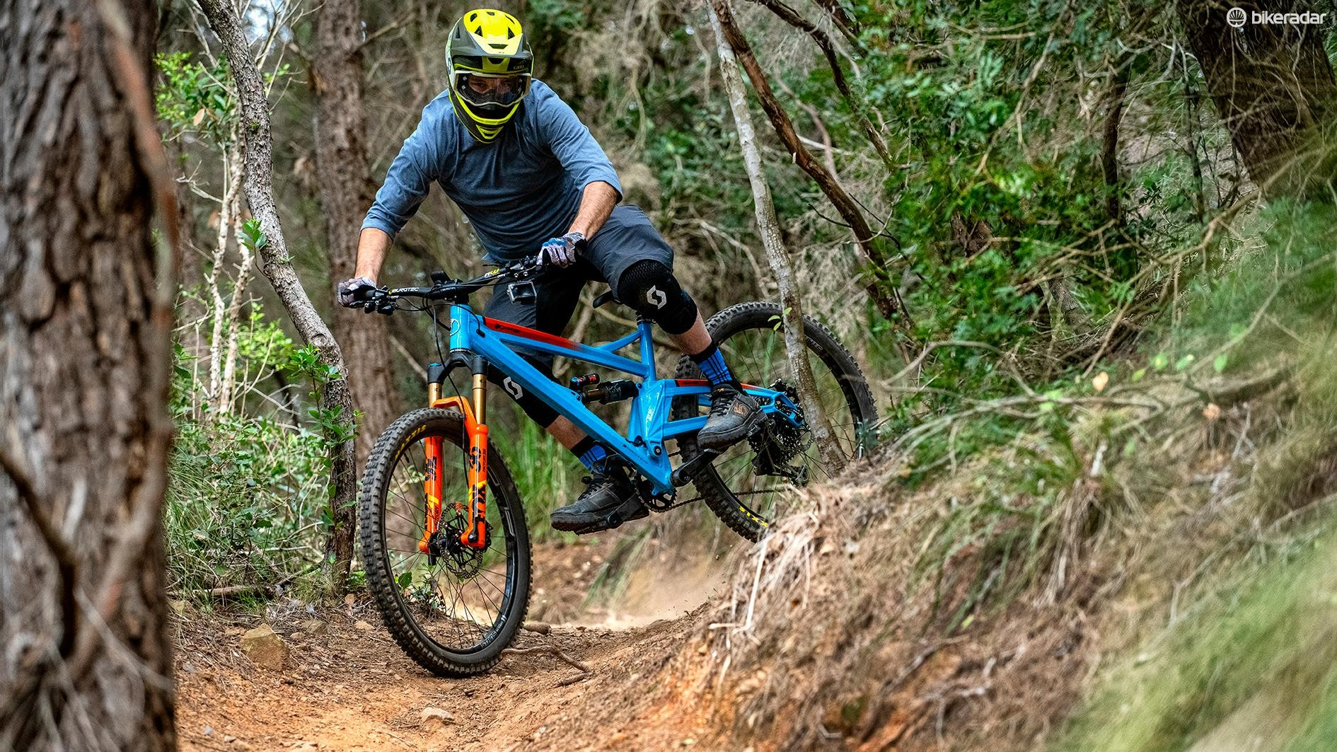The new Alpine 6 is easy to get wild, if that's how you want to ride