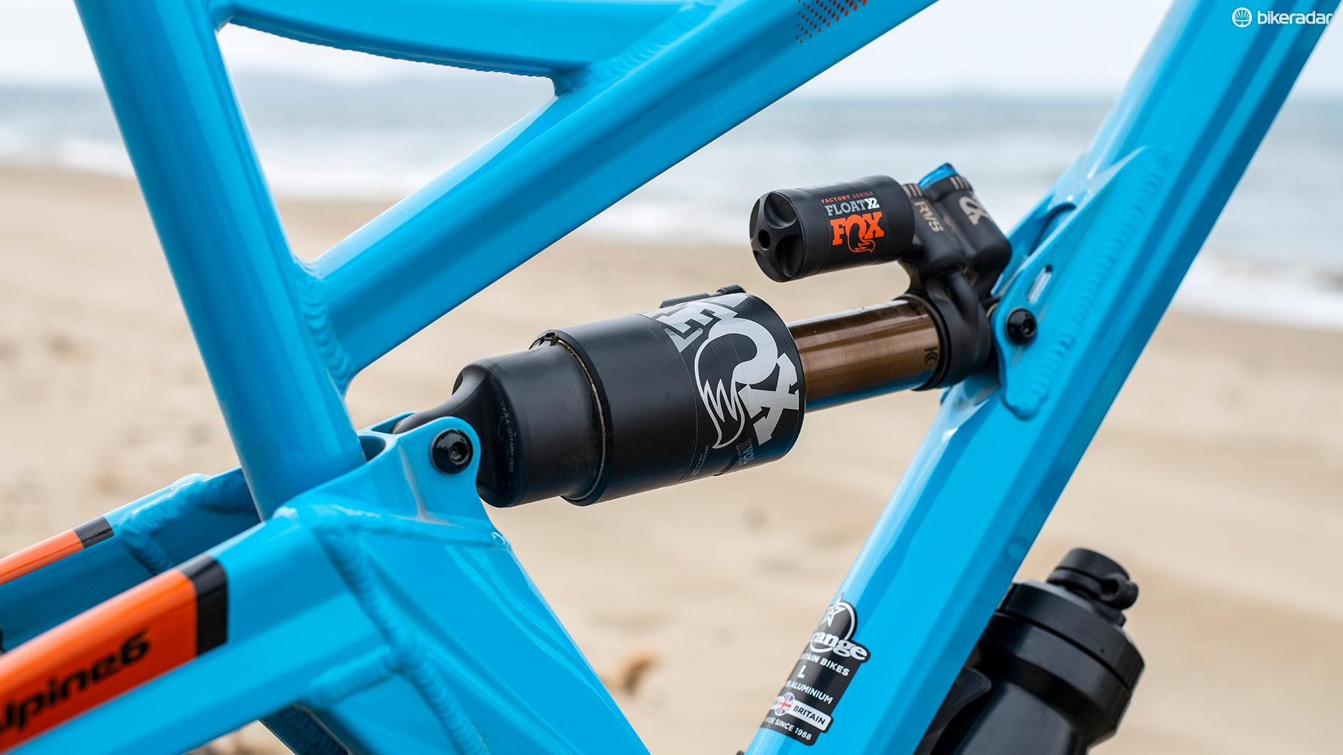 The Factory bike is fitted with the incredible Fox Factory Float X2 shock